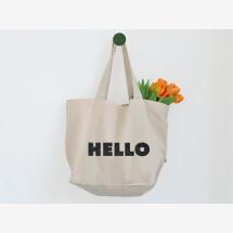 -Statement Shopper XXL HELLO in Glitzer Schwarz-21