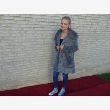 -Faux fur coat gray-21