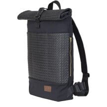 -UNISEX rolltop backpack with laptop bag 20L black with structure by STACHOWICZ-21