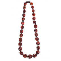 -Dark cognac color necklace-20
