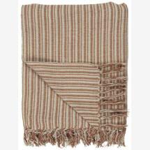 -Plaid in striped pattern cream / rust-21