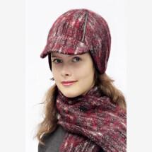 -Burgundy round cap DINA_190-21