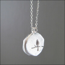 -Silver chain with bird motif Double plate-22