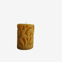 -Pillar candle with interior pattern-21