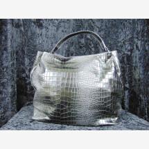 -Leather bag crocodile pattern black-21