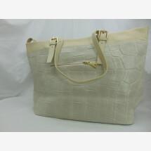 -Leather handbag crocodile offwhite-21