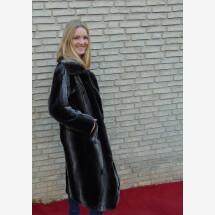 -Faux fur coat long brown-22