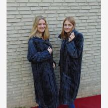 -Faux fur coat long gray-22