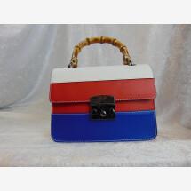 -Lederhandtasche blau rot weiß-22