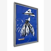 "-Glas Bild ""Lady in Blue-21"
