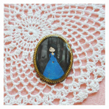 -Snow white vintage style brooch-21