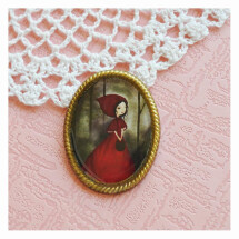 -little red riding hood vintage style brooch-21