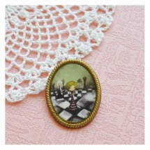 -Alice-a game of chess vintage style brooch-21