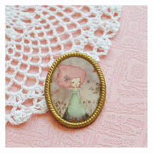 -Anja and the four seasons vintage style brooch-21