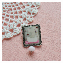 -the white swan vintage style brooch-21