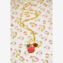 -Floral boho chic pendant pink-21