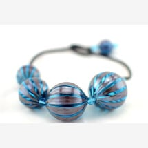 "-Murano Glass Blown Necklace ""SUGE XL""-21"