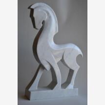 -White Horse-White Carrara marble-21
