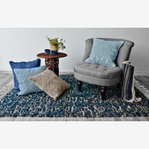 -Wool rug Shades of blue-20