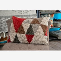 -Wool cushion Triangle-21
