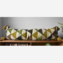 -Kilim wool cushion Triangle Large lumbar-21