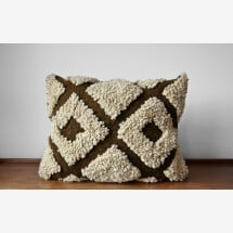 -Kilim wool cushion Diamonds-21