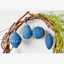 -Set of 4_Handmade Christmas Ornament_Blue and Gold/ Silver-21