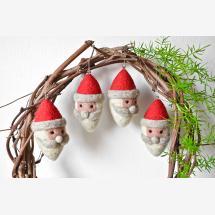 -Set of 4_Handmade Santa Ornament-21
