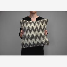 -Kilim wool pillow Ziggity zag-21