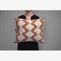 -Kilim wool cushion Honeycombs-21