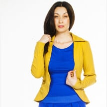 -Stretchblazer Fine mustard cherry green-20