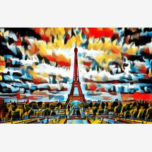 """-Foto-Print hinter Acrylglas """"Eifelturm"""" abstract-20"""