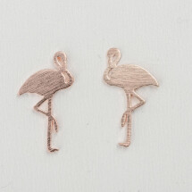 -Flamingo rose gold plated earrings-20