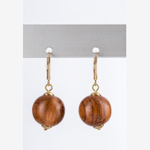 -Brown wooden earrings-21
