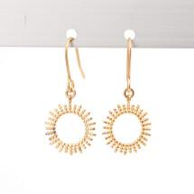 -Gold-plated sun earrings ER 9803g-1-23