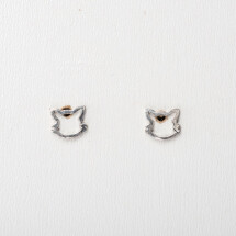 -Earrings with cats head sterling silver-20