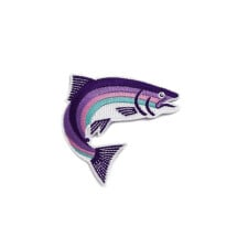 -Rainbow Trout Iron-On Patch-21