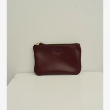 -Leather cosmetic bag Bordeaux June Small-21