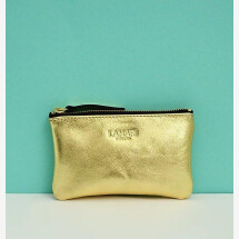 -Leather cosmetic bag Gold June Small-21