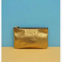 -Leather cosmetic bag bronze June Small-21