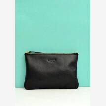 -Leather cosmetic bag black June Big-21