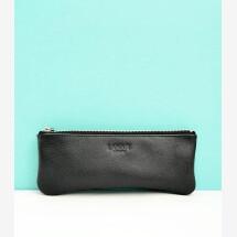 -Leather pencil case black-21