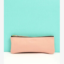-Leather pencil case pink-22