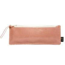 -Leather pen case old rose / stone-21