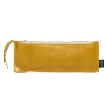 -Leather pencil case Curry / Stone-21