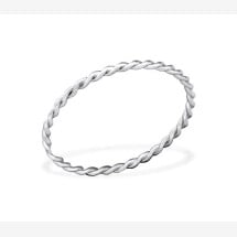 -Finely braided ring made of 925 sterling silver-21