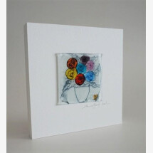 -Glass picture Flower 15x15 white-21