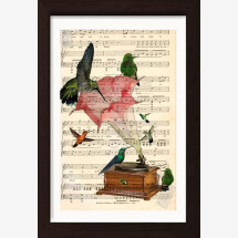 -Hummingbirds on Angel Trumpet Gramophone-21