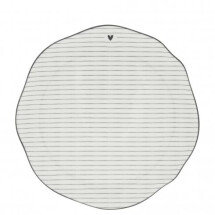 -Bastion Collections breakfast plate Stripes in Black-21