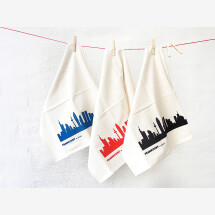 -Frankfurt Skyline Tea Towel Set of 3 Fair Trade Handprint-20